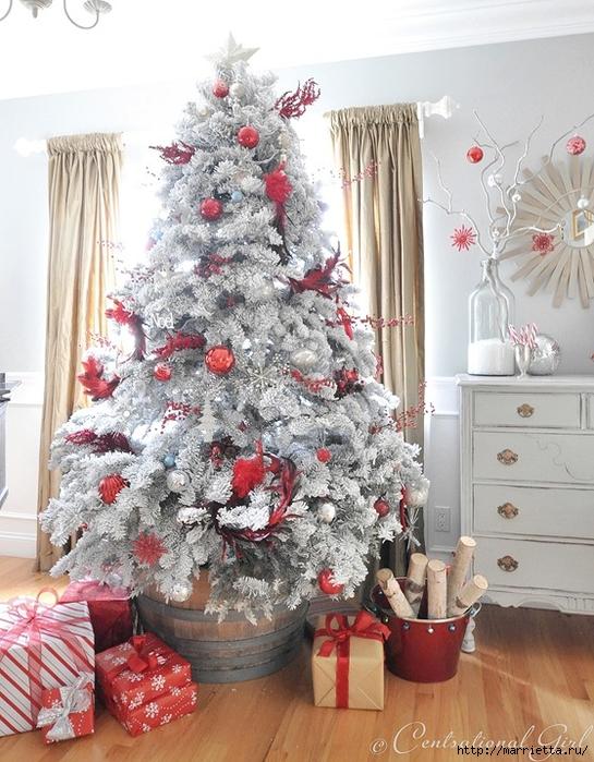 Рождественский декор в интерьере. Красивые фотографии (7) (545x700, 326Kb)