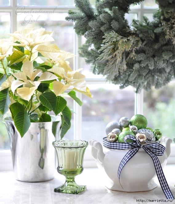Рождественский декор в интерьере. Красивые фотографии (13) (569x661, 235Kb)