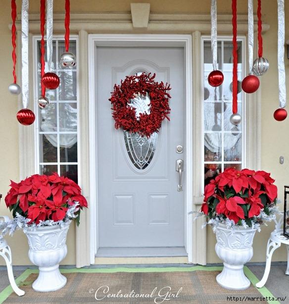 Рождественский декор в интерьере. Красивые фотографии (15) (584x614, 246Kb)