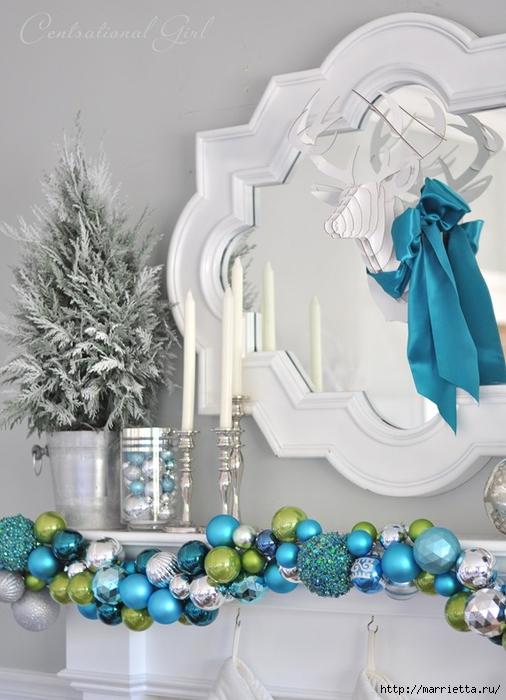 Рождественский декор в интерьере. Красивые фотографии (18) (506x700, 229Kb)