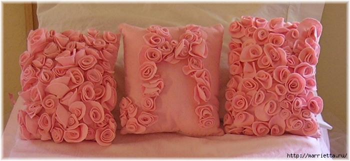 Декоративные подушки из фетра и войлока (29) (700x322, 170Kb)
