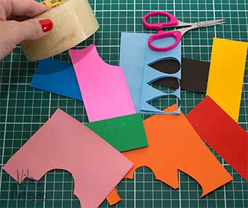 Сердечки из скотча для праздничной упаковки подарков (8) (350x294, 95Kb)