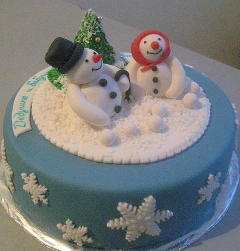 Новогодний торты и фото