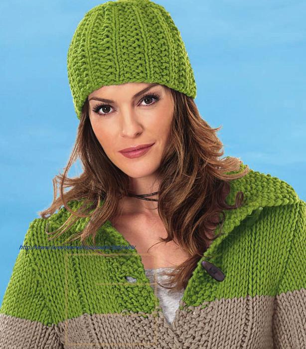 светло-зелёная шапка ижакет (614x700, 168Kb)