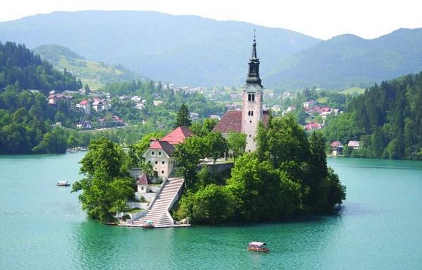 Остров Блед в Словении2 (597x383, 404Kb)