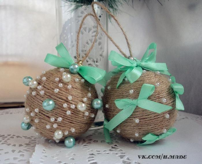 Новогодние украшения шары своими руками