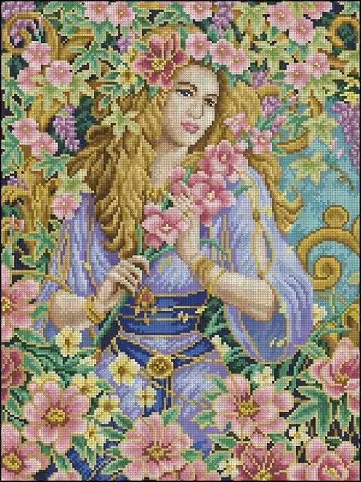 Схема вышивки девушка 1 фотография
