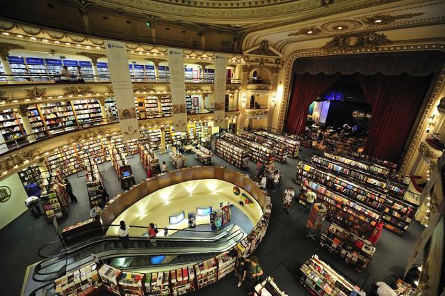 книжный магазин в здании театра Буэнос-Айреса 8 (640x425, 332Kb)