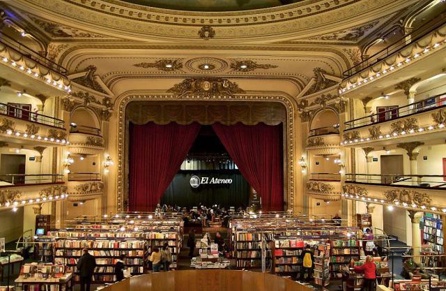 книжный магазин в здании театра Буэнос-Айреса 10 (640x417, 333Kb)