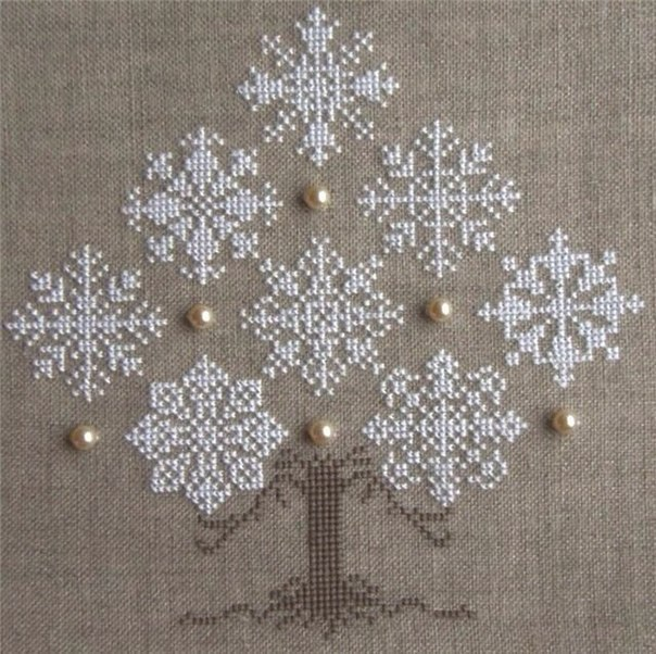 вышивка снежинки - Самое