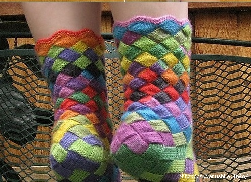 Rainbow-Patch-Knitted-Socks-Idea-DIY6 (496x359, 211Kb)