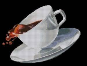 Чашка кофе на черном фоне (300x226, 8Kb)