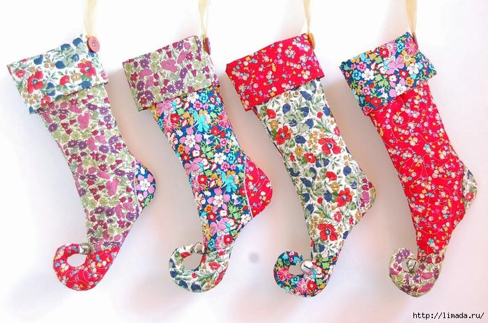 liberty print elf christmas stockings (700x464, 294Kb)