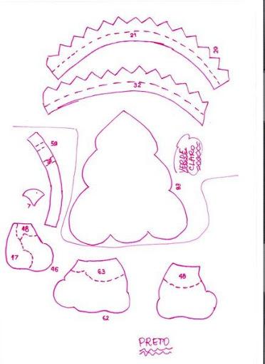 Шаблоны для пошива рождественских сапожков (9) (372x512, 117Kb)