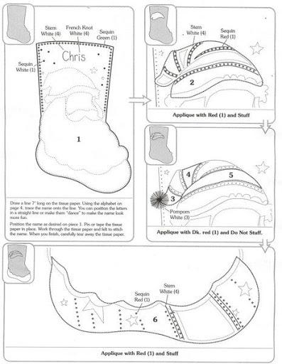 Шаблоны для пошива рождественских сапожков (15) (397x512, 113Kb)