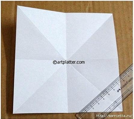 Елочка из бумаги в технике оригами (3) (446x395, 92Kb)