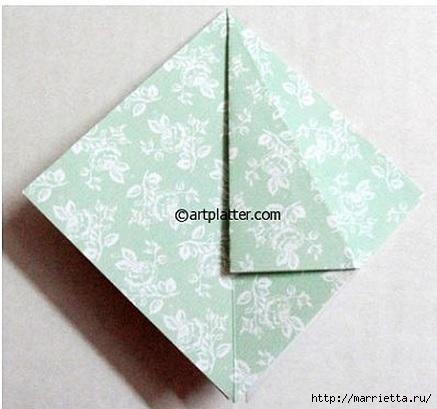 Елочка из бумаги в технике оригами (5) (437x409, 94Kb)