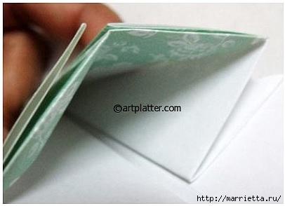Елочка из бумаги в технике оригами (9) (406x294, 56Kb)