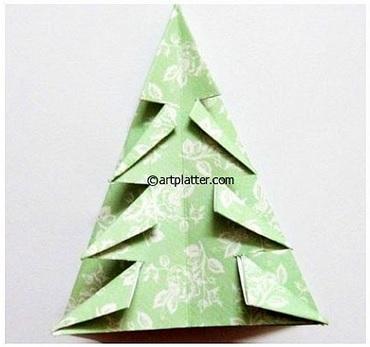 Елочка из бумаги в технике оригами (13) (370x347, 88Kb)