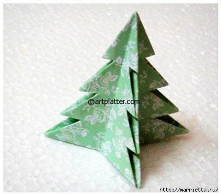 Елочка из бумаги в технике оригами (15) (452x400, 94Kb)
