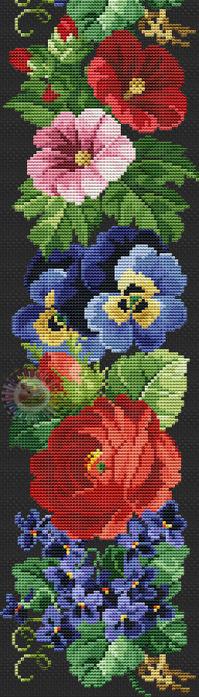 Flower border (199x700, 244Kb)