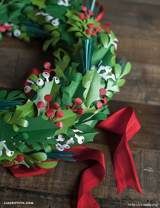 Holiday_Wreath_Paper_DIY (540x700, 307Kb)