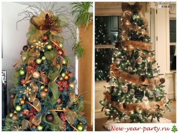 Как украсить елку своими руками в 2016 году фото