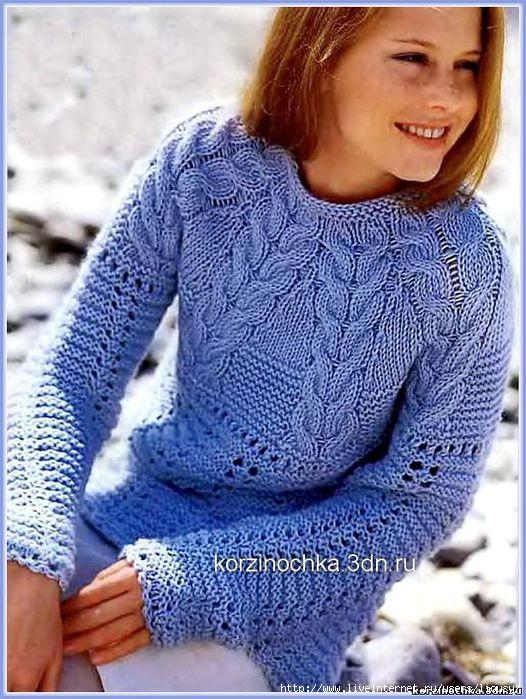 пуловер из кос (526x700, 255Kb)