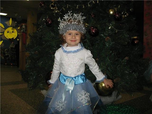 Детские новогодние костюмы снежинки своими руками