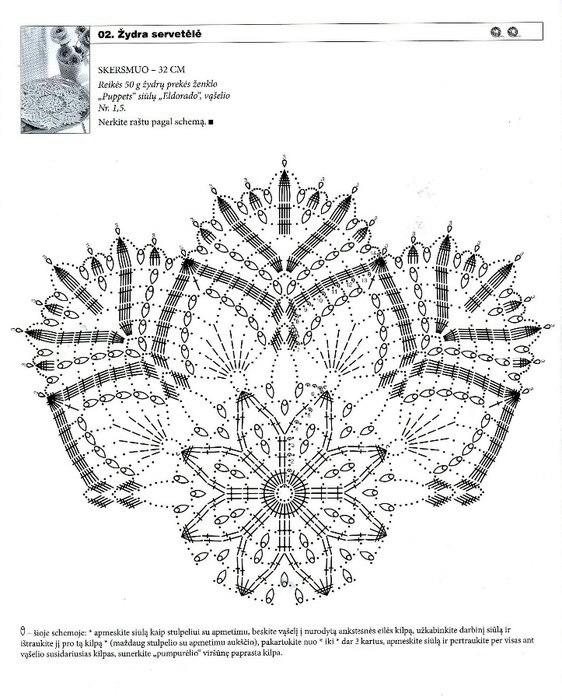салфетка снежинка сх (562x700, 236Kb)