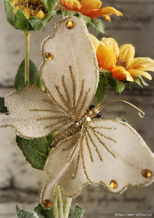 Бабочки из мешковины (1) (494x700, 276Kb)
