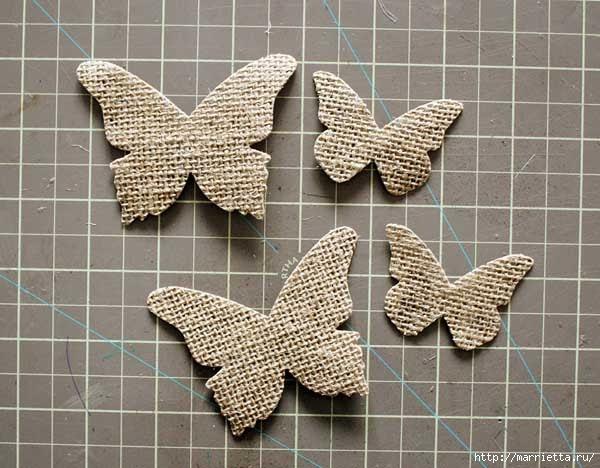 Бабочки из мешковины (18) (600x468, 166Kb)