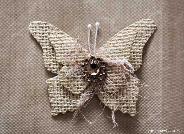 Бабочки из мешковины (24) (600x438, 192Kb)