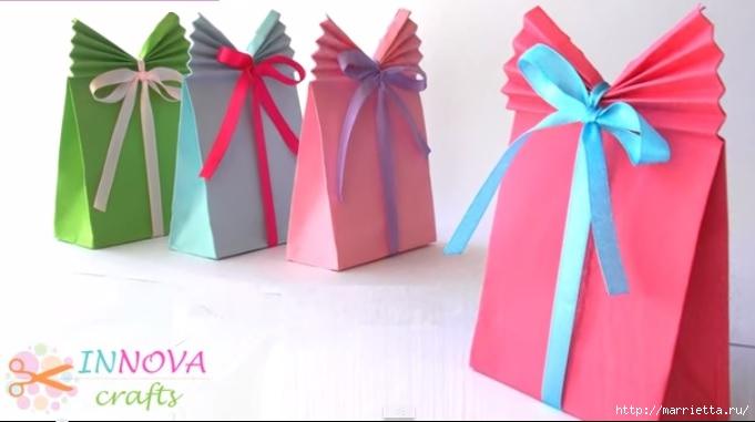 Упаковка для подарков своими руками. Видео мастер-класс (2) (681x381, 110Kb)