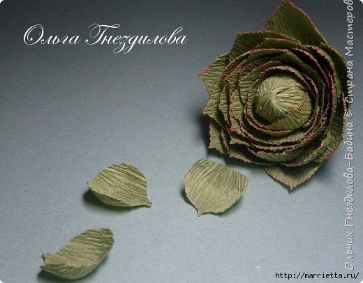 Каменные розы или суккуленты из гофрированной бумаги (5) (520x406, 110Kb)