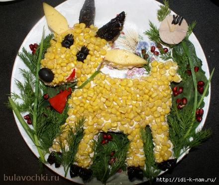 как оформить салат в виде козочки, как оформить салат в виде овечки, как оформить салат в виде барашка, салат овечка, салат барашек. салат козочка, как подать еде на 2015 год, символ 2015 года на праздничном столе, еда для детей в виде овечки, детская еда в виде животных, как красиво подать еду детям Хьюго Пьюго, /1418874852_10 (440x372, 191Kb)