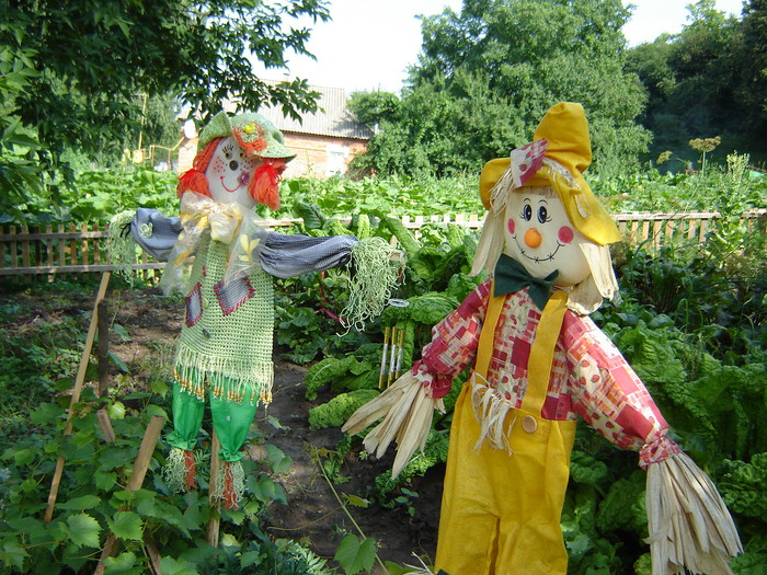 Пугало садовое своими руками (мастер-класс)