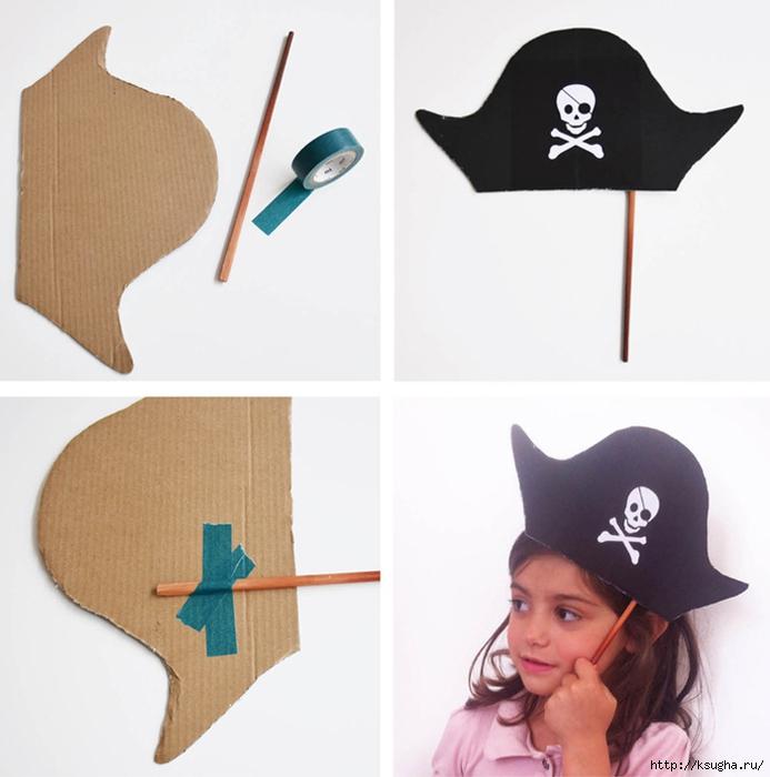 Треуголка для пирата своими руками