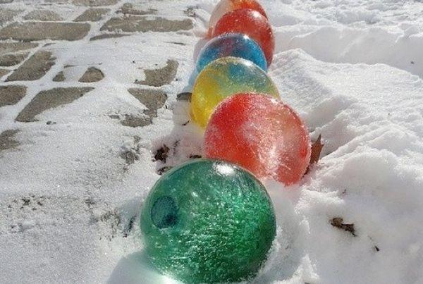 Как сделать снег цветной