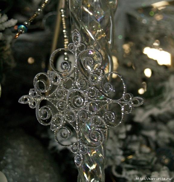 Новогодние звезды в технике квиллинг для украшения елочки (18) (575x602, 228Kb)