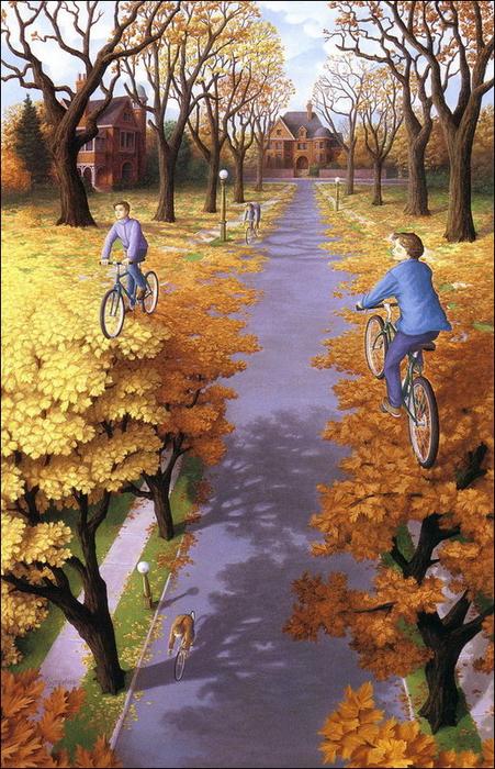 оптические иллюзии художник Роб Гонсалвес картины 5 (451x700, 497Kb)