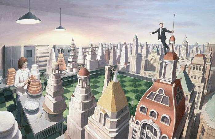 оптические иллюзии художник Роб Гонсалвес картины 12 (700x453, 451Kb)