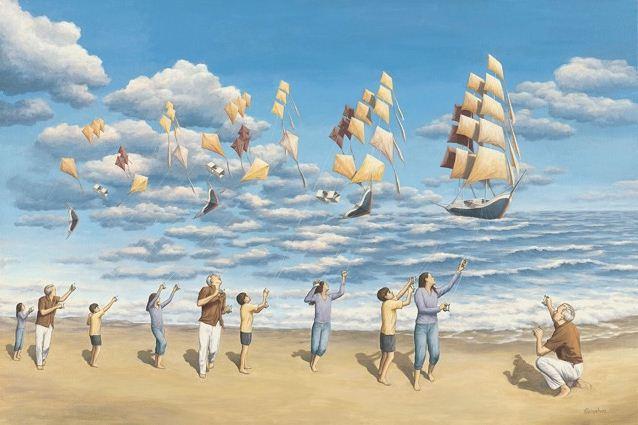 оптические иллюзии художник Роб Гонсалвес картины 15 (638x425, 218Kb)