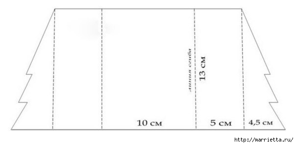 ЕЛОЧКА - новогодняя открытка своими руками (1) (604x296, 34Kb)