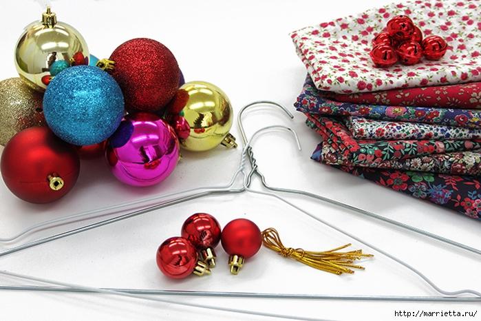 Новогодние венки из елочных шаров (9) (700x466, 288Kb)