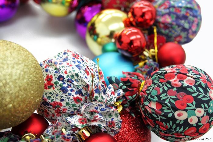 Новогодние венки из елочных шаров (17) (700x466, 328Kb)