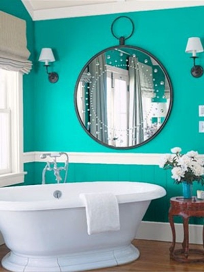 Интерьеры ванной комнаты бирюзовый