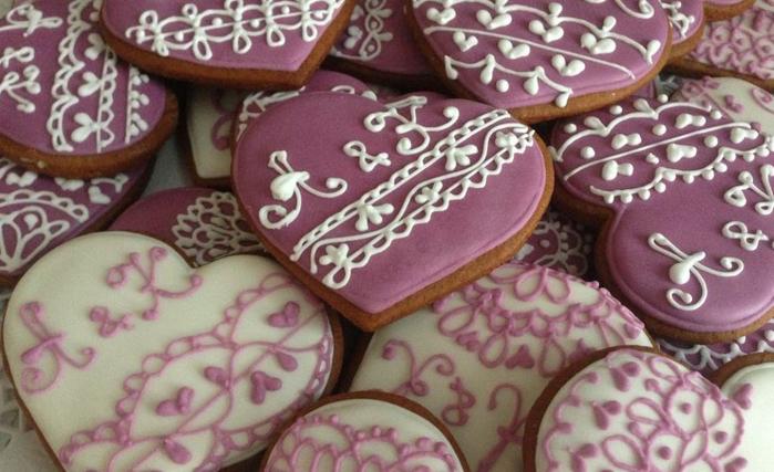Печенье сердце с глазурью рецепт