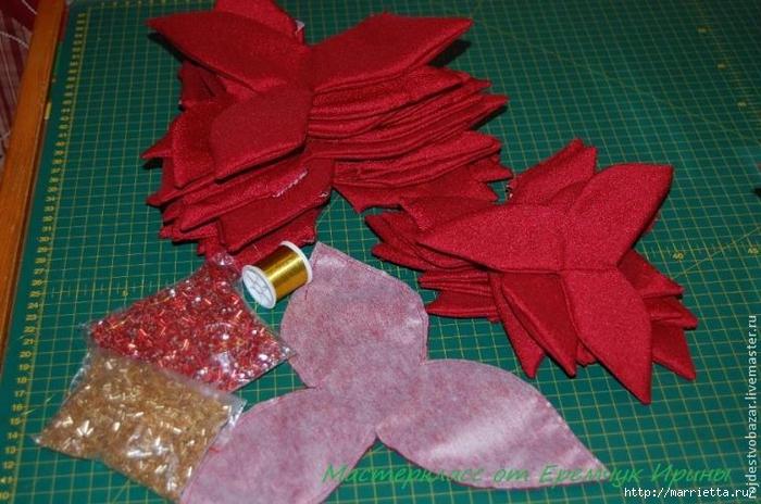 Рождественская пуансеттия из ткани (2) (700x464, 272Kb)