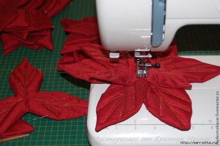 Рождественская пуансеттия из ткани (6) (700x465, 213Kb)